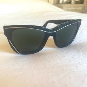 Givenchy black sunglasses with silver/gold trim